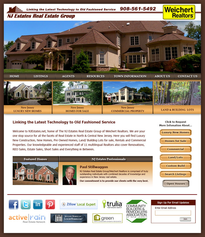 NJ Estates Website Design