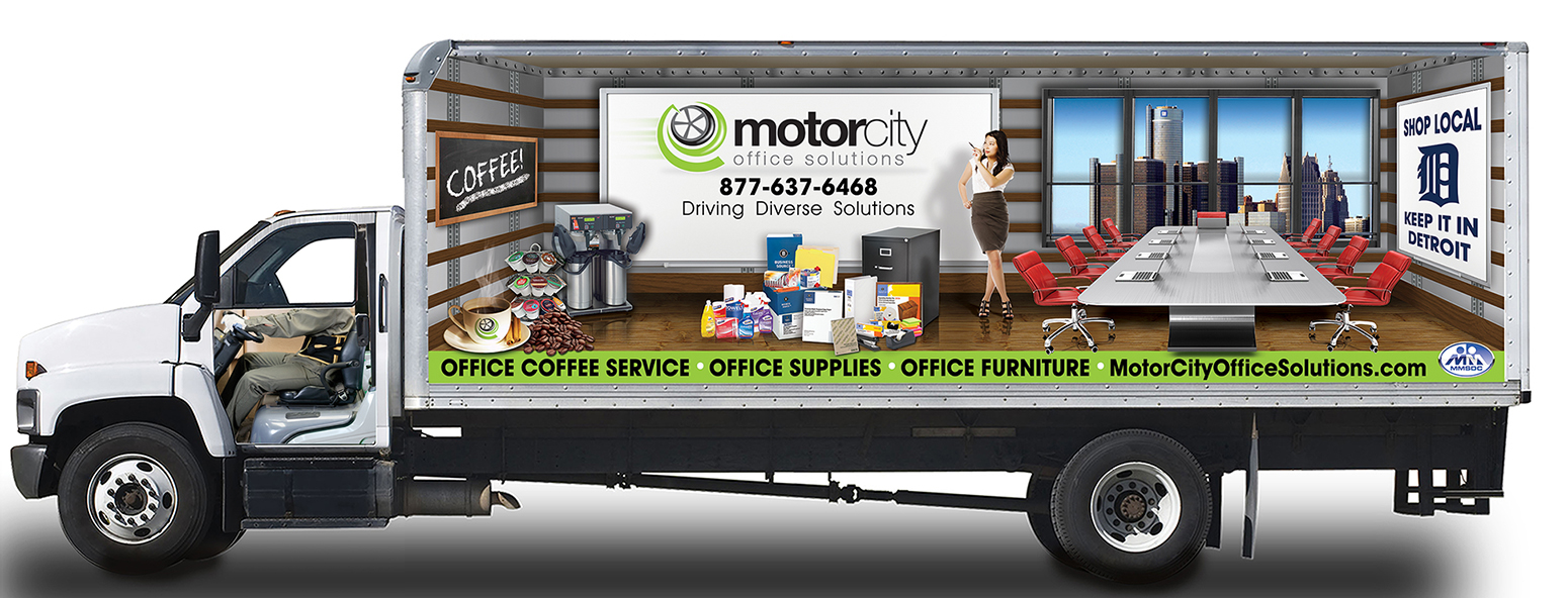 Motor City Truck Wrap Design