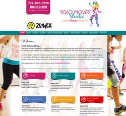 Yolo Moves Zumba Website Design