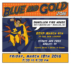 Cub Scout Blue and Gold Invitation