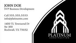 Platinum Construction Business Card