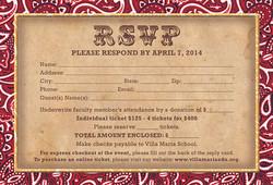 Villa Maria School Gala RSVP Card