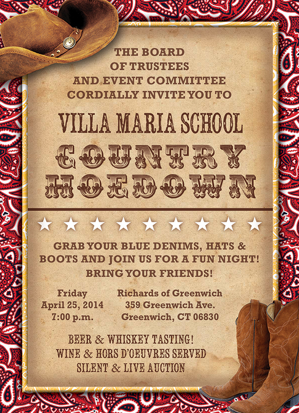 Villa Maria School Gala Invitation