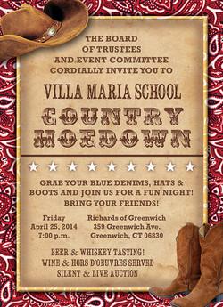 Villa Maria School Gala Invitation