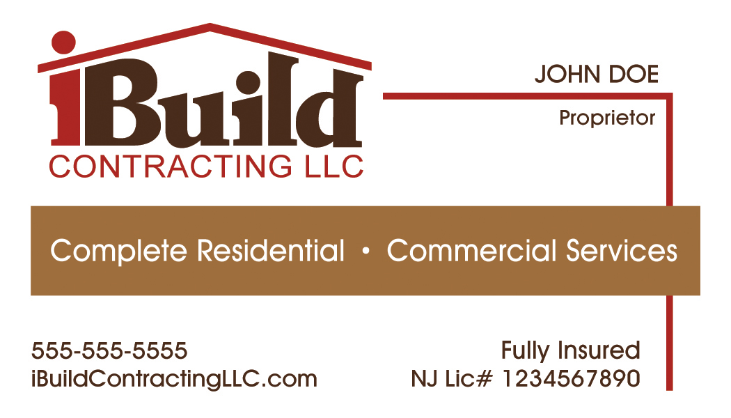 iBuild Contracting Business Card