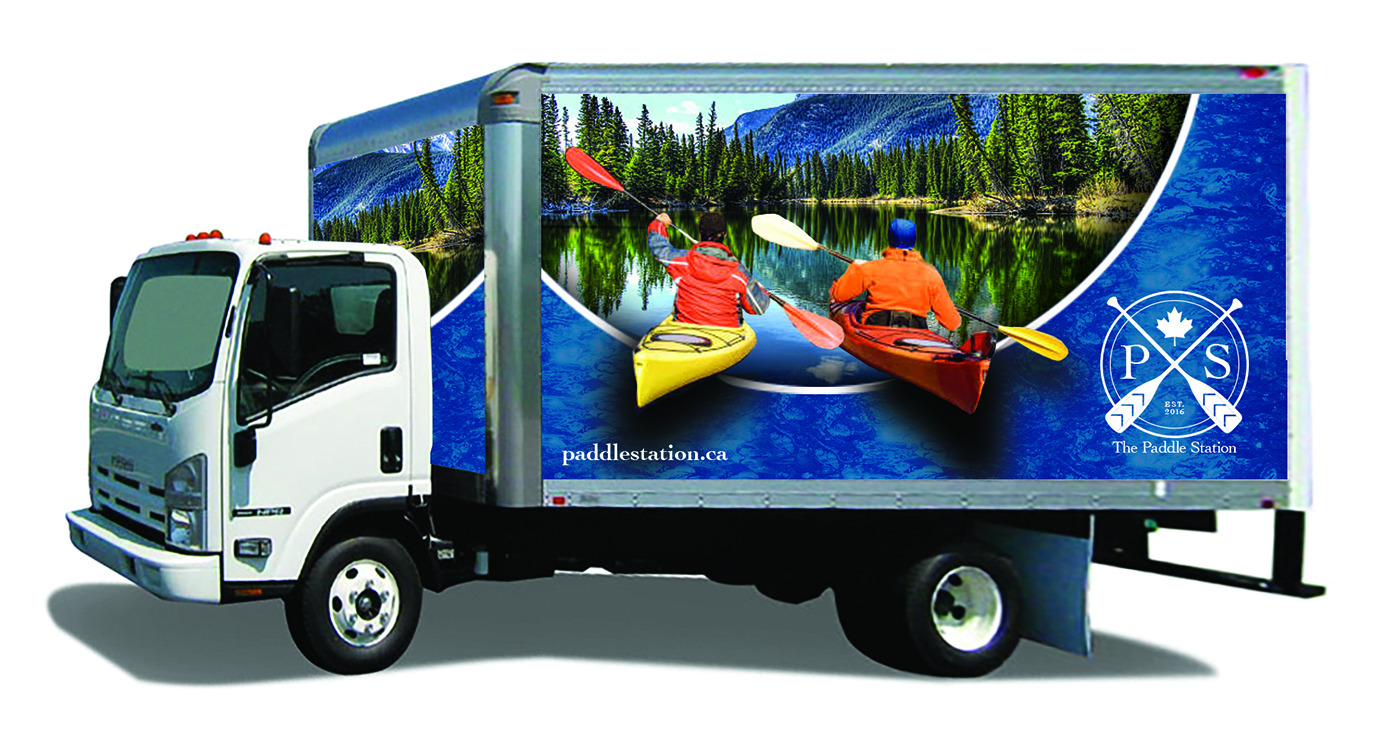 Paddle Station Box Truck Wrap Design