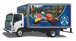 Paddle Station Box Truck Wrap Design