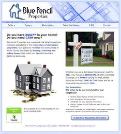 Blue Pencil Properties Website Desig