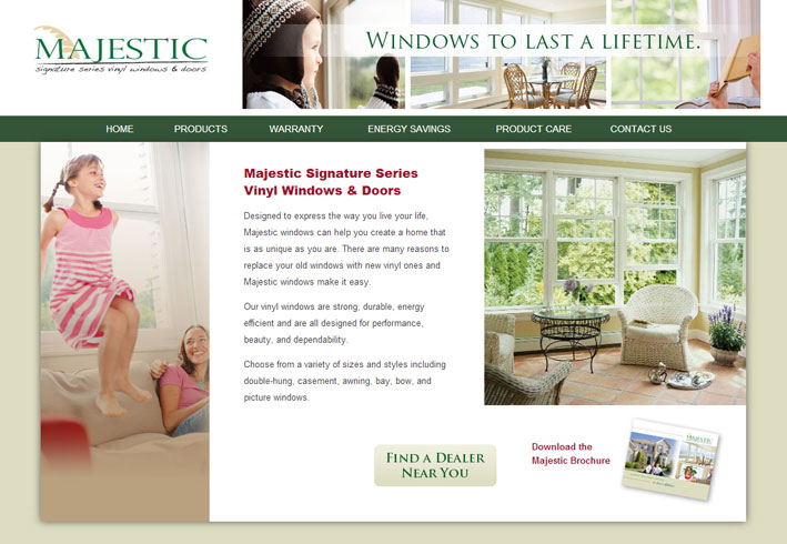 Majestic Windows Website Design