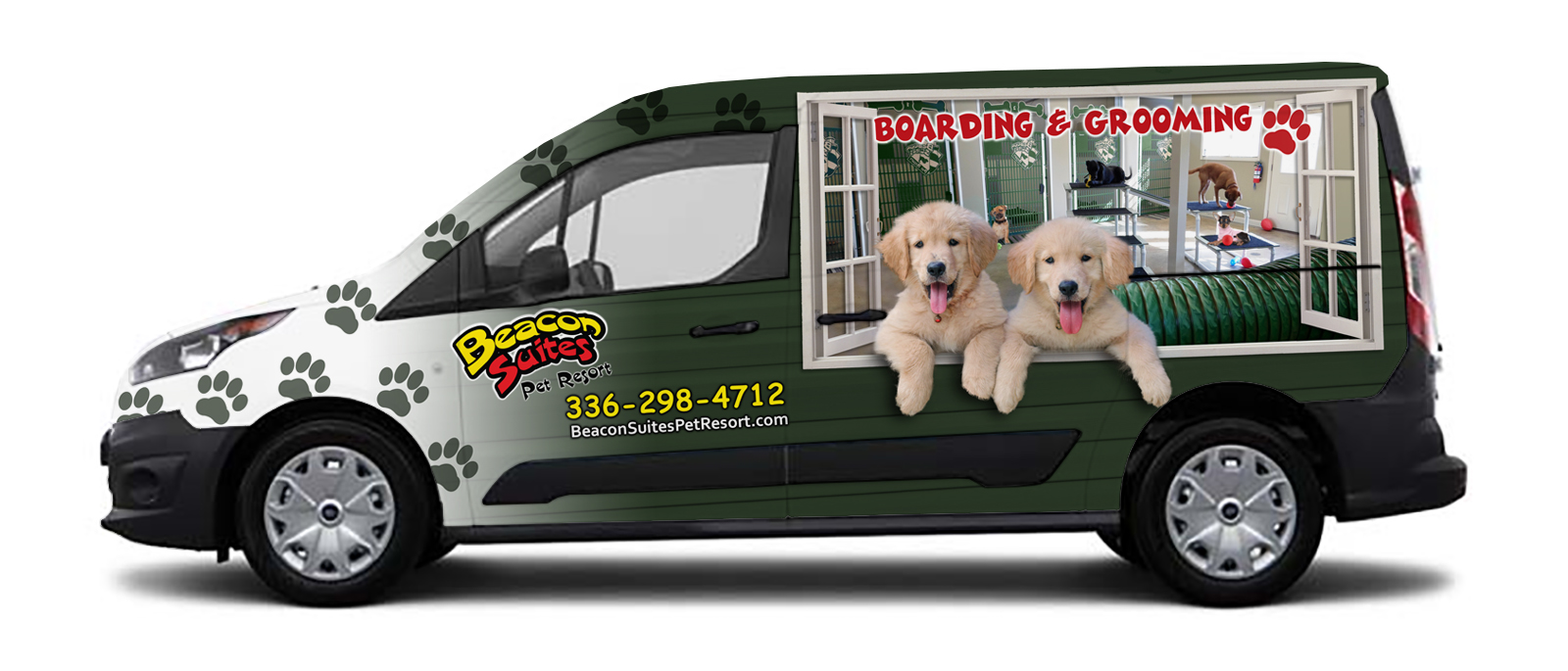 Beacon Suites Van Wrap Design