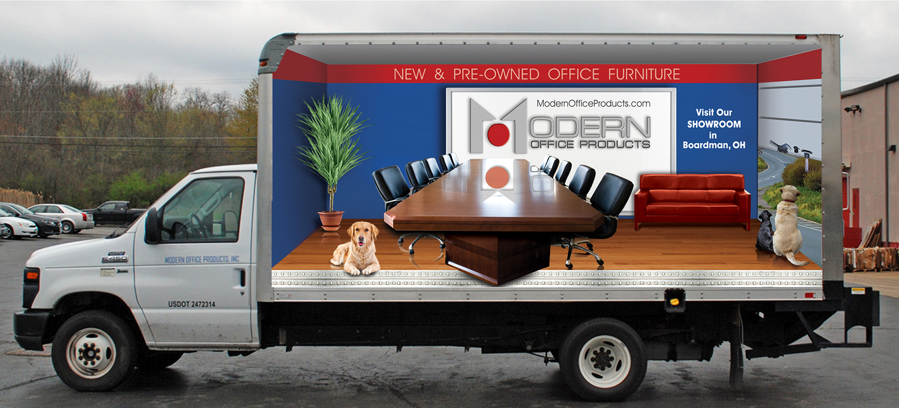 Modern Office Box Truck Wrap