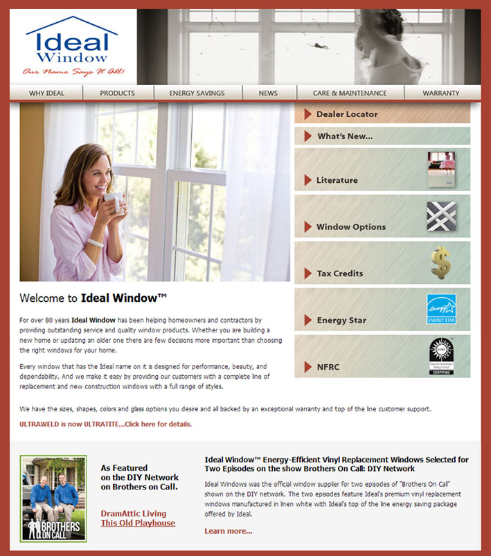 Ideal Window Website Design
