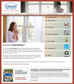 Ideal Window Website Design