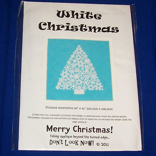Don't Look Now White Christmas Quilt Pattern Merry Christmas