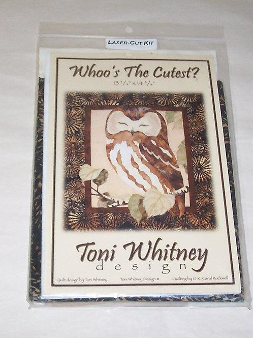 Whoo's The Cutest? Laser Cut Fabric Kit Toni Whitney Design Pattern Owl
