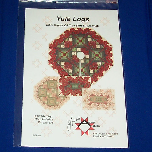 Jackie's Animas Quilts Yule Logs Quilt Pattern Christmas Table Topper Tree Skirt