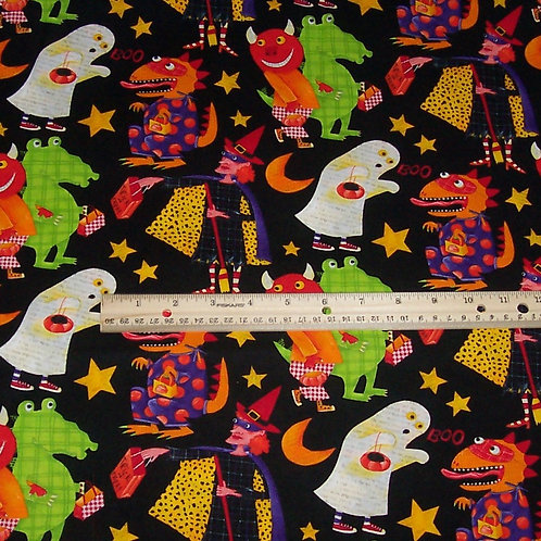 Robert Kaufman Monster Bash Halloween Fabric By the Yard