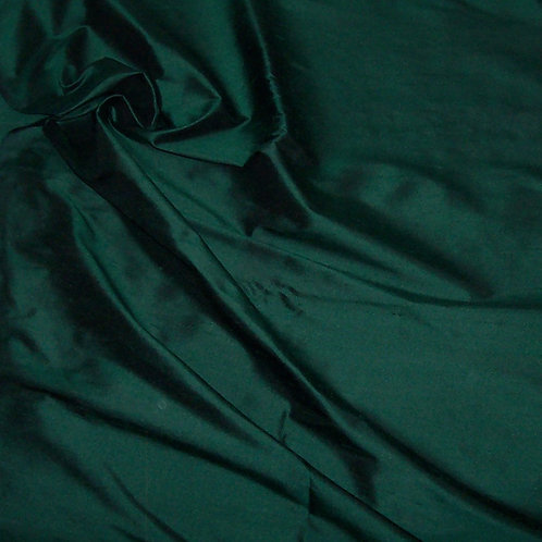 Silk Dupioni By the Piece Dark Green 3 Yards