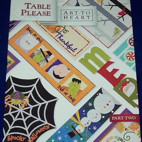 Art To Heart Table Please Part Two Nancy Halvorsen Quilt Book Patterns