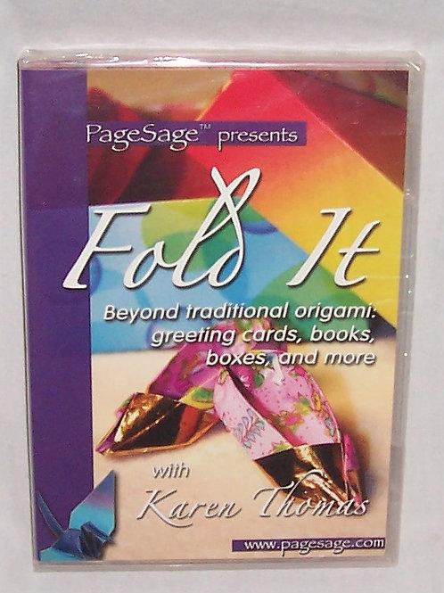 Page Sage Fold It DVD Beyond Traditional Origami Karen Thomas