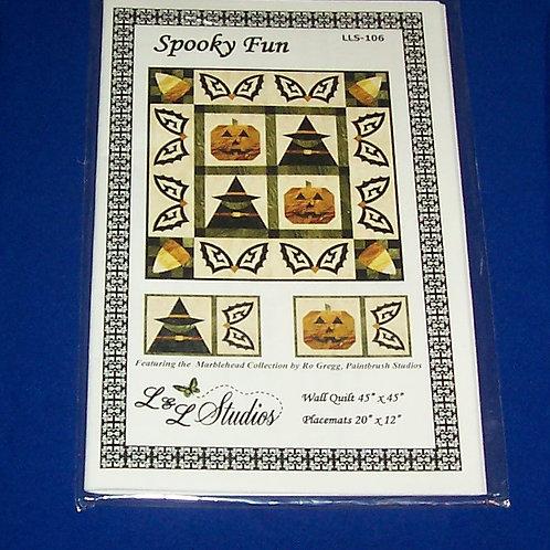 L & L Studios Spooky Fun Halloween Quilt Pattern Ro Gregg