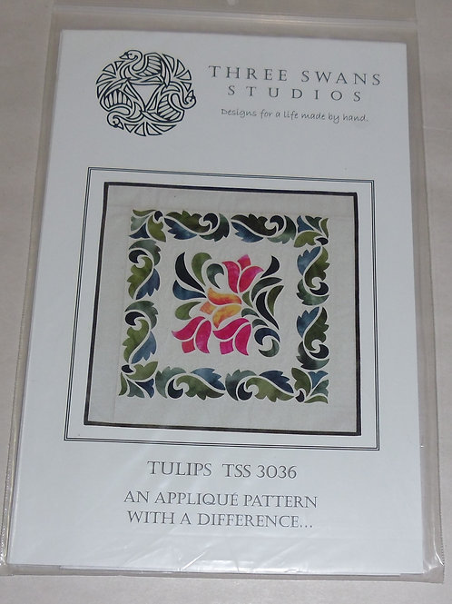 Tulips Three Swans Studios Quilt Pattern TSS 3036 Applique Pattern Different