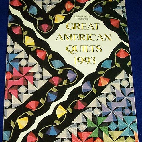 Great American Quilts 1993 Sandra L. O'Brien Quilt Book