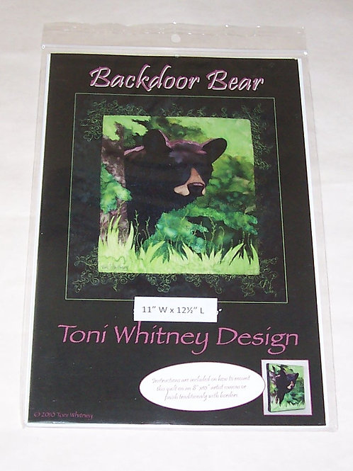 "Backdoor Bear Toni Whitney Design Pattern 11""X12.5"""