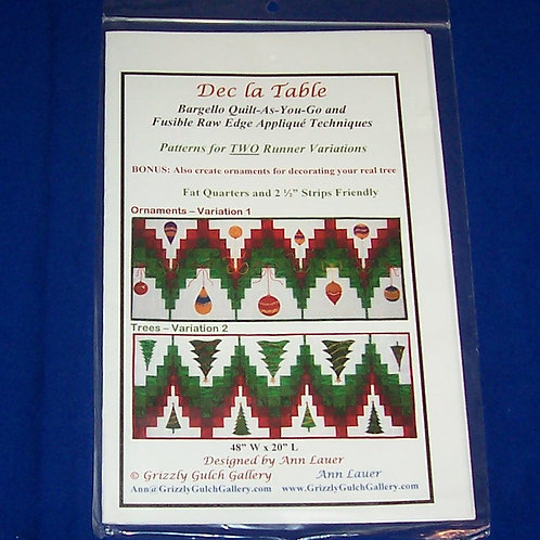 Dec La Table Ann Lauer Quilt Pattern Christmas Ornaments Trees Bargello