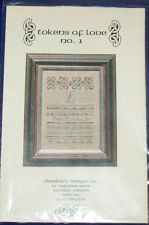 Cross Stitch Pattern Chart Tokens of Love No. 1 Charland Designs w/Token