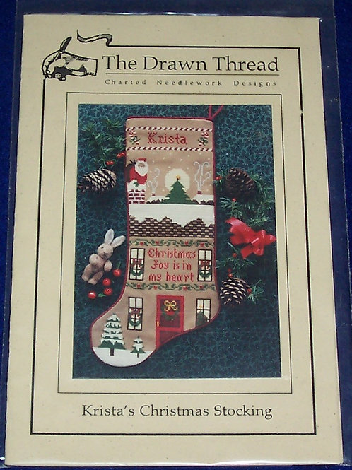 Cross Stitch Pattern Kit The Drawn Thread Krista's Christmas Stocking