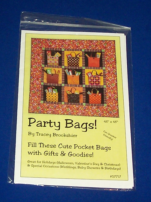 Party Bags Halloween Wall Quilt Pattern Tracey Brookshier Christmas Valentine
