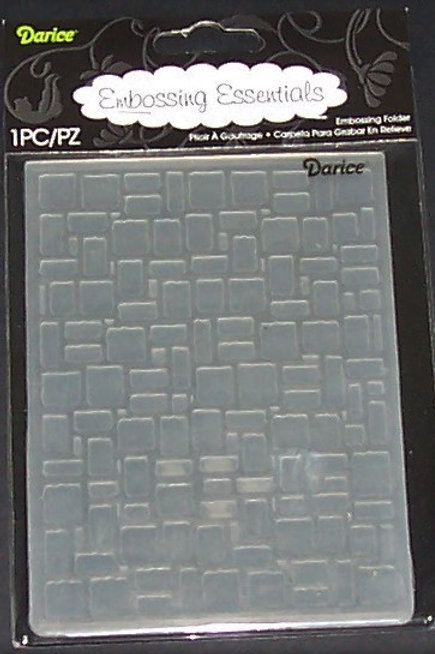 Darice Embossing Folder Brick Wall Scrapbooking