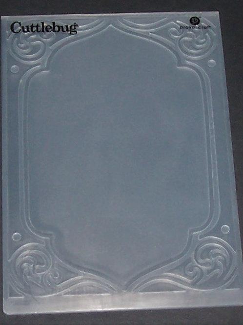 Cuttlebug Embossing Folder Decorative Frame Scrapbooking