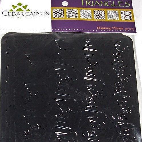 Cedar Canyon Textiles Artist's Paintstiks Rubbing Plates Triangles Set of 6