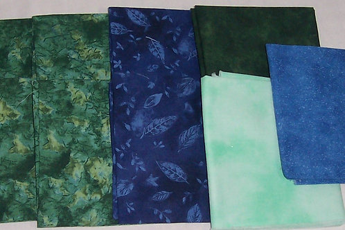 10 Fat Quarters Green and Blue