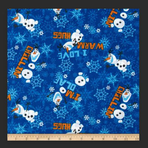 Disney Frozen Olaf Chillin Fabric By the Yard