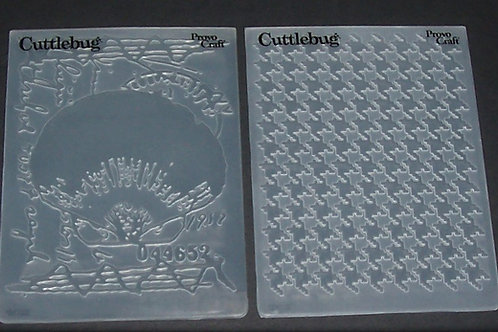 2 Cuttlebug Embossing Folders Shell Collage / Houndstooth Scrapbo