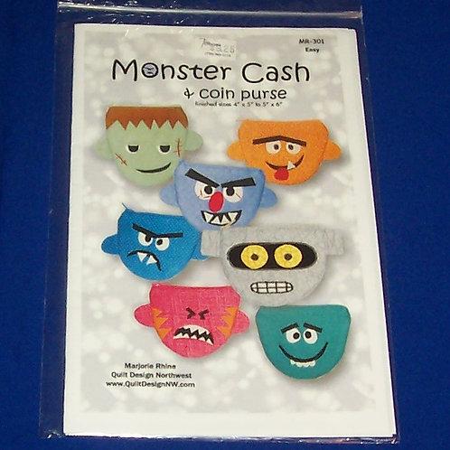 Monster Cash & Coin Purse Marjorie Rhine Quilt Design Northwest