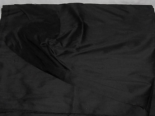 Silk Dupioni Fabric By the Piece Black 8 Yards