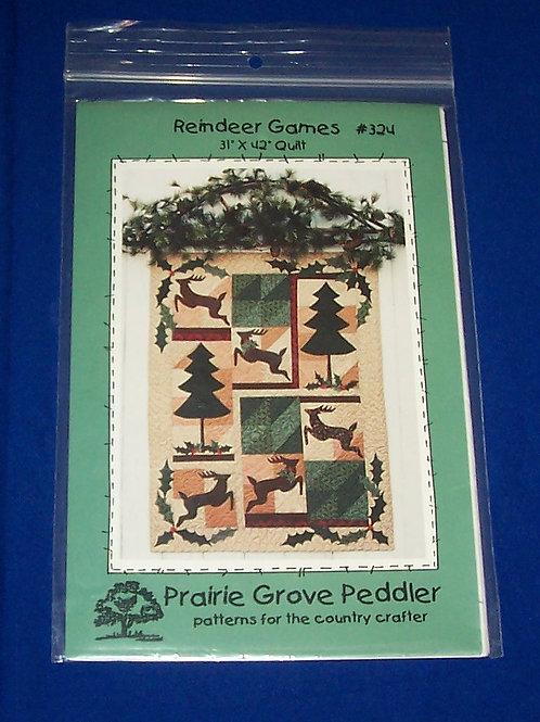 Prairie Grove Peddler Reindeer Games Quilt Pattern Christmas