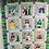 Thumbnail: BOM The Shivery Snowman Quilt Patterns Christmas 12 Blocks January-December