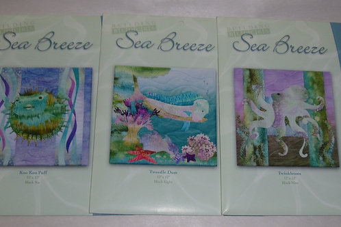 3 Sea Breeze McKenna Ryan Quilt Patterns Twinkletoes Tweedle Dum Koo Koo Puff