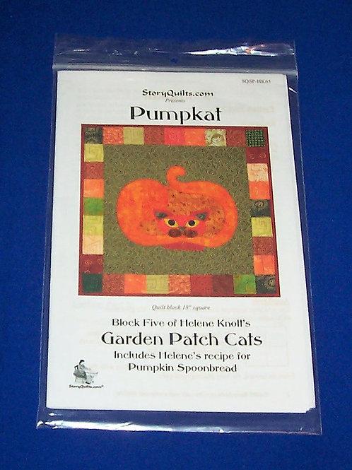 Garden Patch Cats Pumpkat Block 5 Helene Knott Quilt Pattern