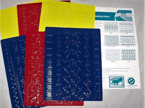 Roylco Texture Rubbing Plates Cultural Art Set of 6