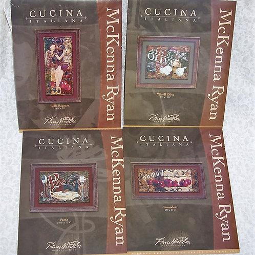 4 Cucina Italiana McKenna Ryan Quilt Patterns Pomodori Bella Fagazza Pasta Olio