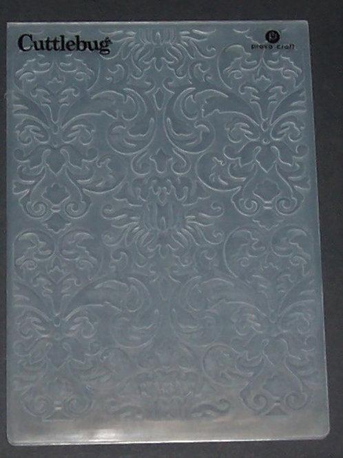 2 Cuttlebug Embossing Folders Damask D'vine Swirl Scrapbooking