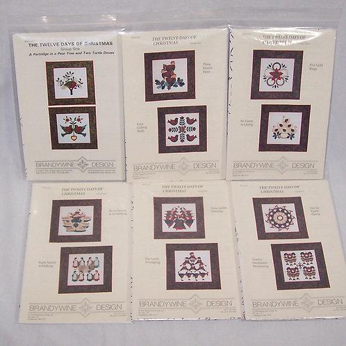 Brandywine Designs The Twelve Days of Christmas Quilt Patterns Complete Set