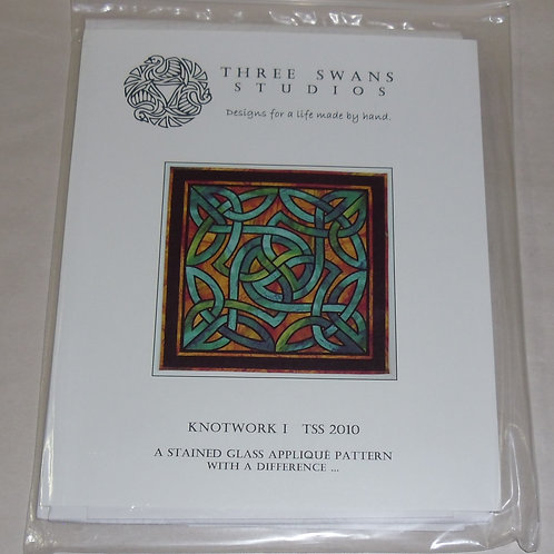Knotwork I Three Swans Studios Quilt Pattern TSS 2010 Stained Glass Applique