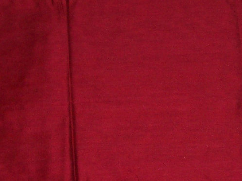 Silk or Silk Blend By the Piece Red 1 Yard